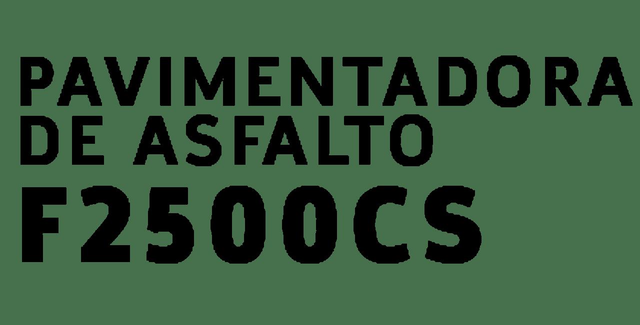 Pavimentadora de Asfalto f2500CS Dynapac